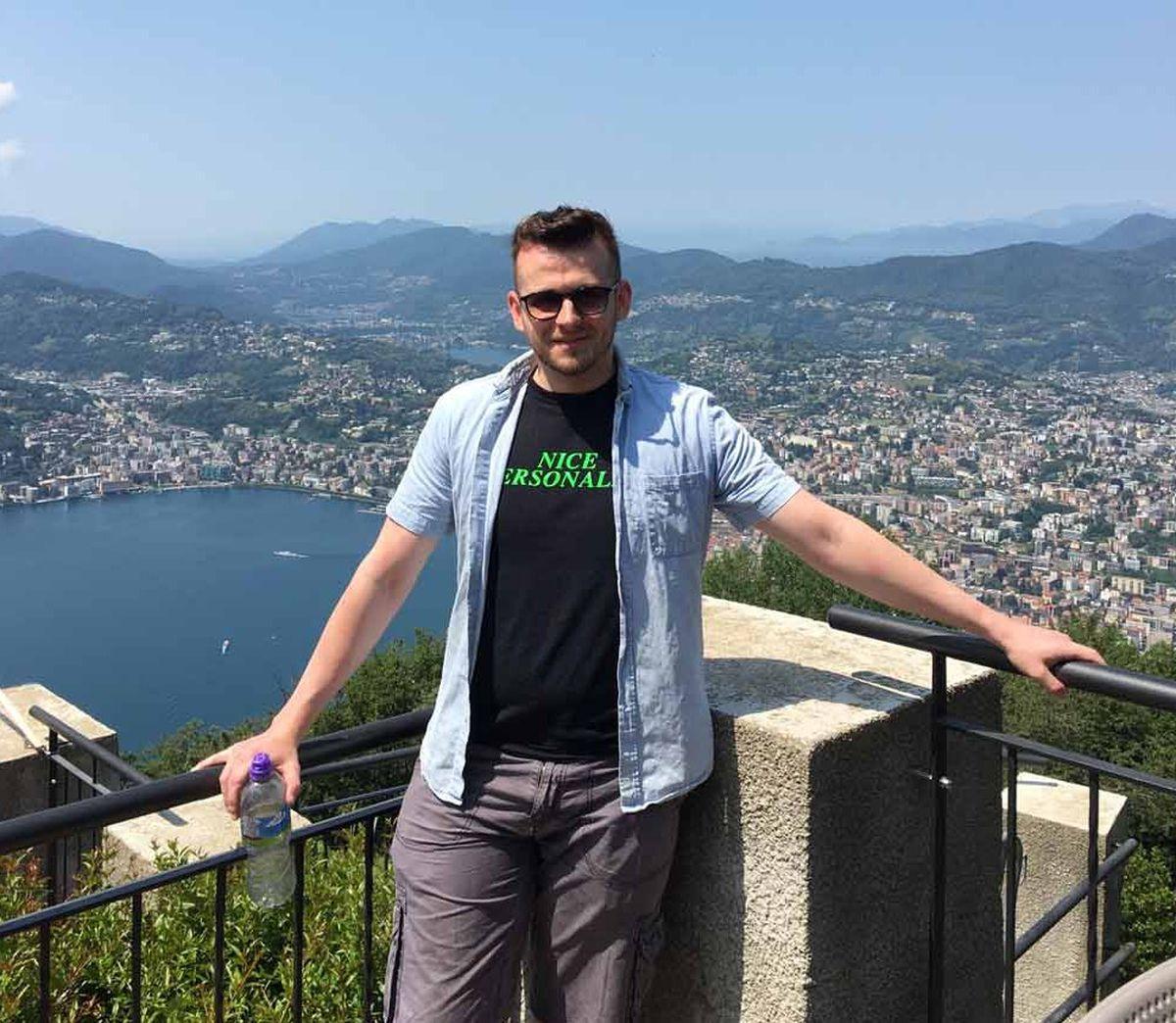 Nick Humphreys on holiday