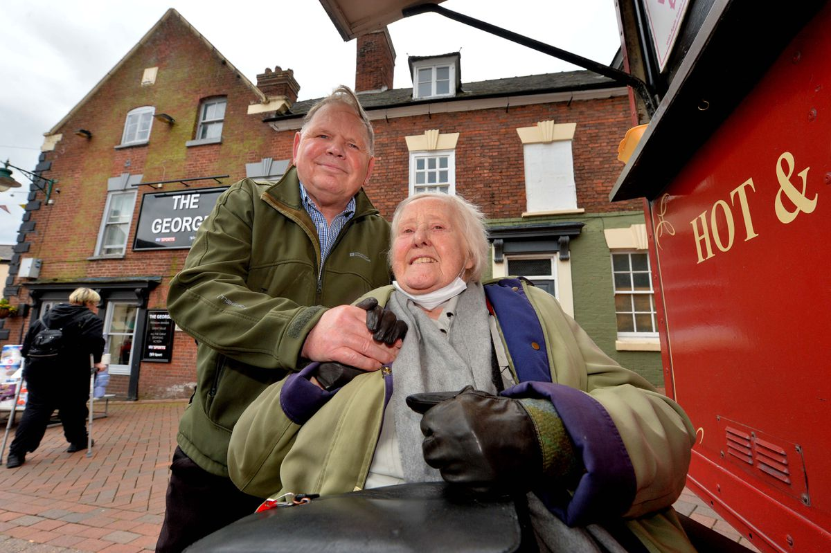 Heather and John Bickerton were happy to see people in Oswestry again