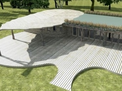 'Unique' leaf-shaped visitor centre at The Mere is recommended for approval