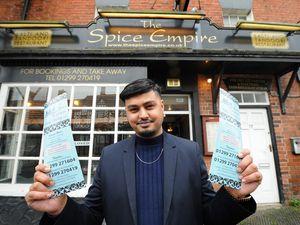 Wasim Kabir at The Spice Empire, Cleobury Mortimer