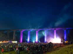 Fireworks underneath aqueduct arches for annual spectacular - in photos