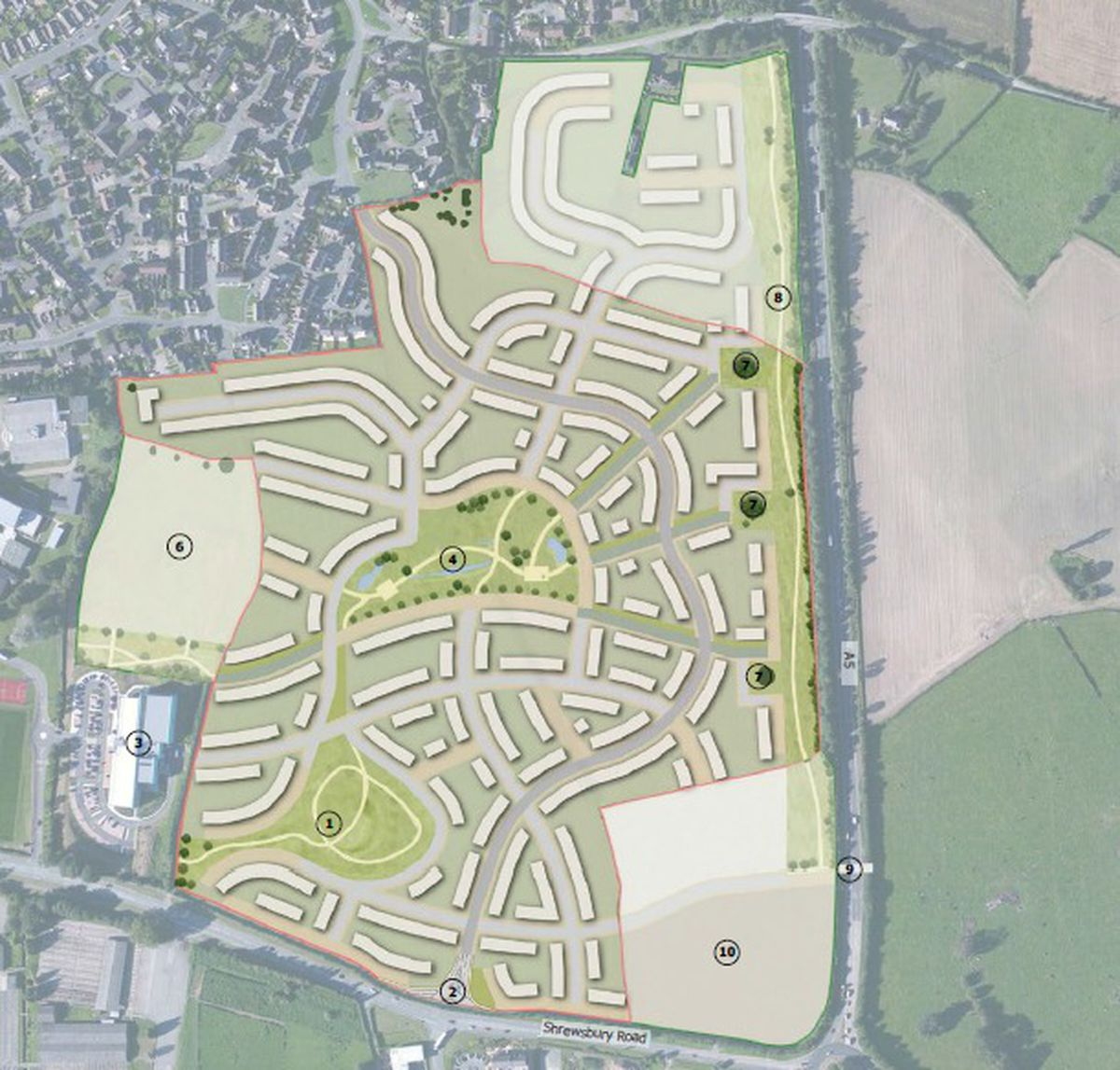 The planned housing development. Image: WYG