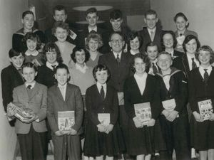 A group of prize winners  in Ellesmere
