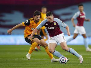 John McGinn of Aston Villa and Ruben Neves of Wolverhampton Wanderers. (AMA)