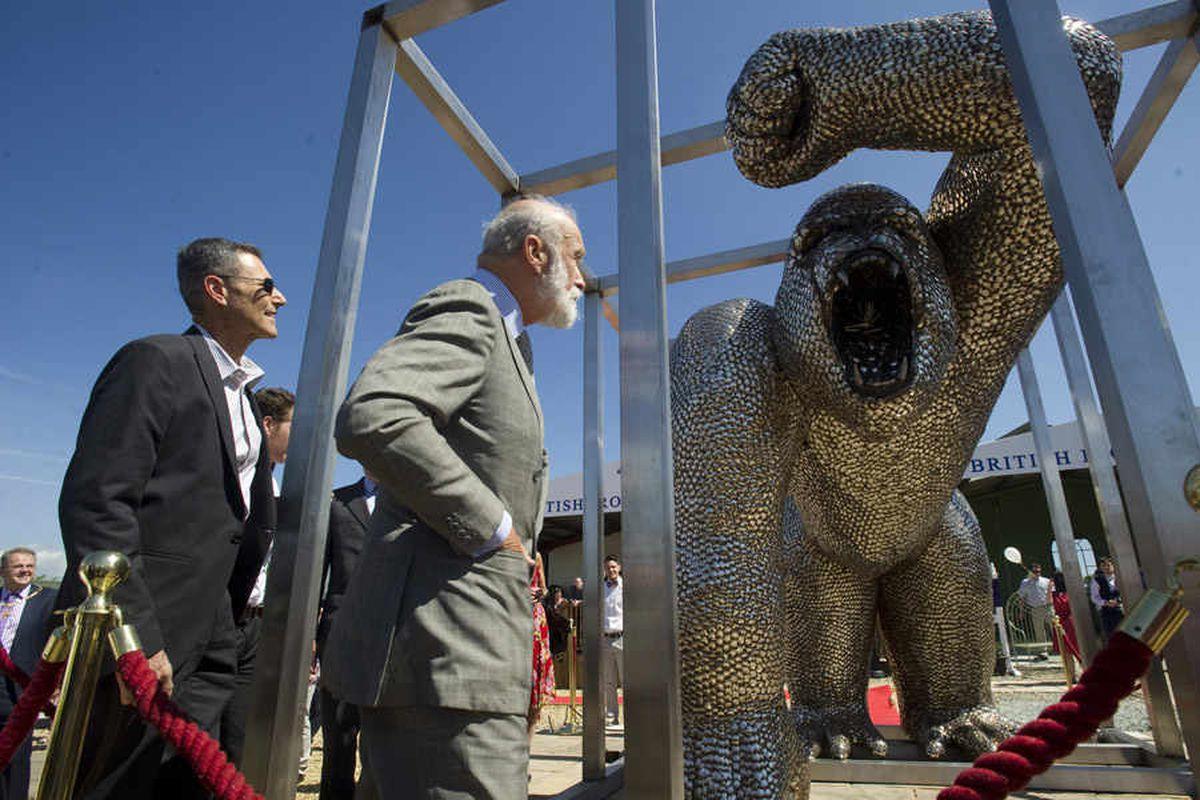 Uri Geller's gorilla sculpture to star at Shropshire County Show