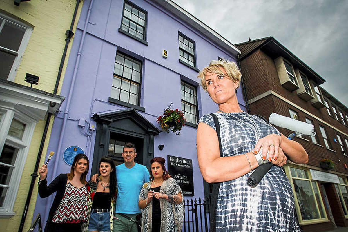 The colour purple: Newport building may have to be repainted after just two complaints
