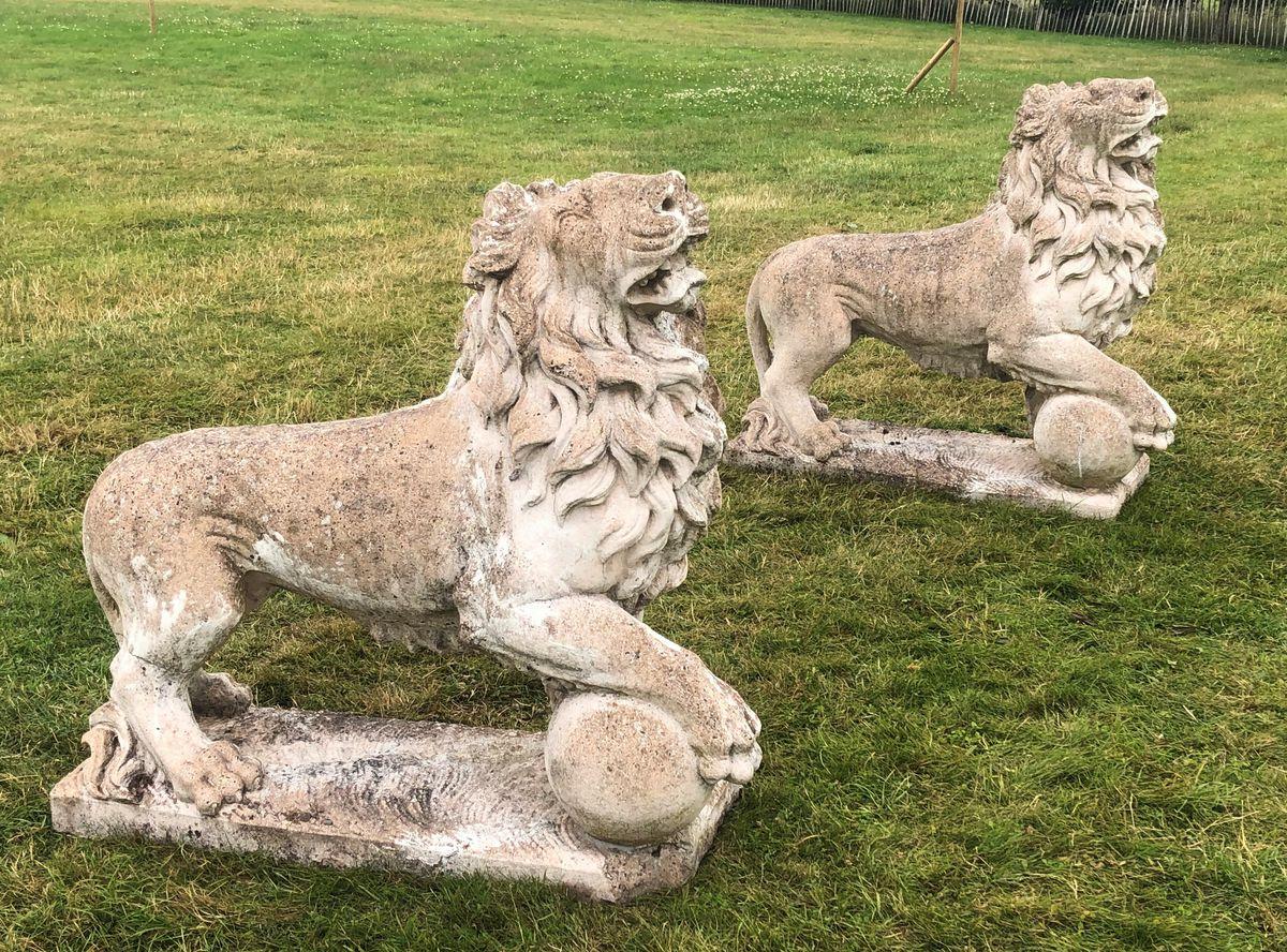 Pair of Medici lions