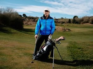 BORDER COPYRIGHT SHROPSHIRE STAR JAMIE RICKETTS 16/03/2021 - Llanymynech Golf Club has reopend for their Welsh Members. In Picture: Satyajit Maitra.