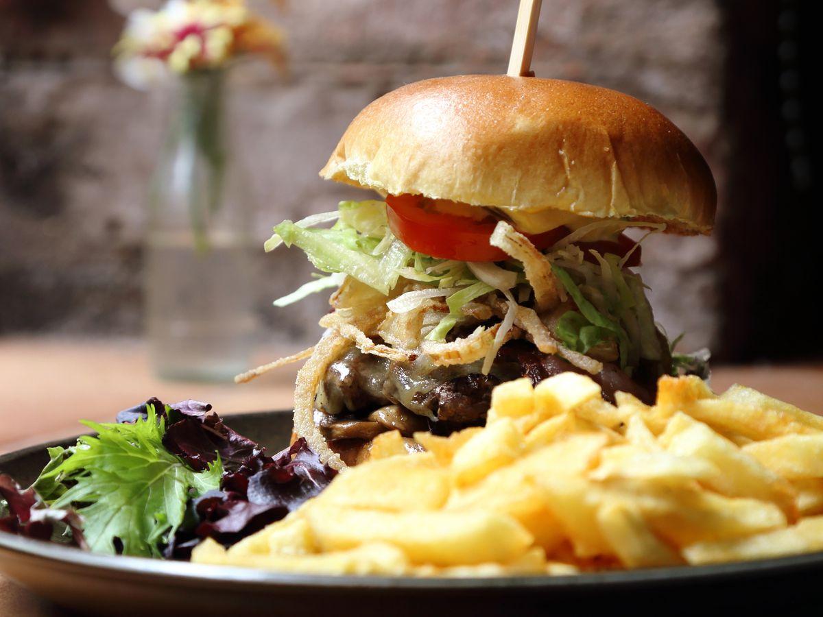 The Lyons' Burger, a burning hunk of funk