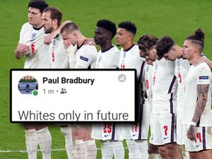 Comments were posted to Paul Bradbury's Facebook page after England's Euro 2020 final loss to Italy