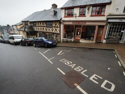 Action call over disabled parking spaces in Bishop's Castle