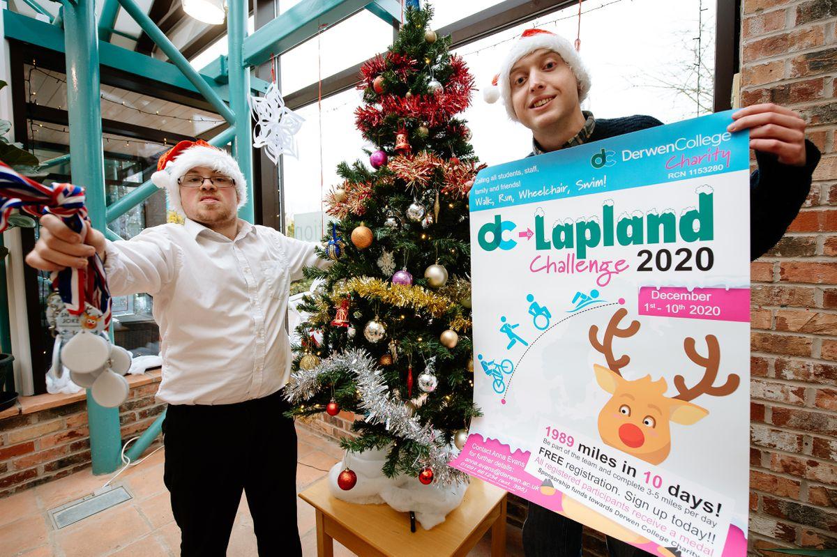 Derwen college students William Chapple 21 And Tom Alexander 22 ready for their Derwen to Lapland challenge