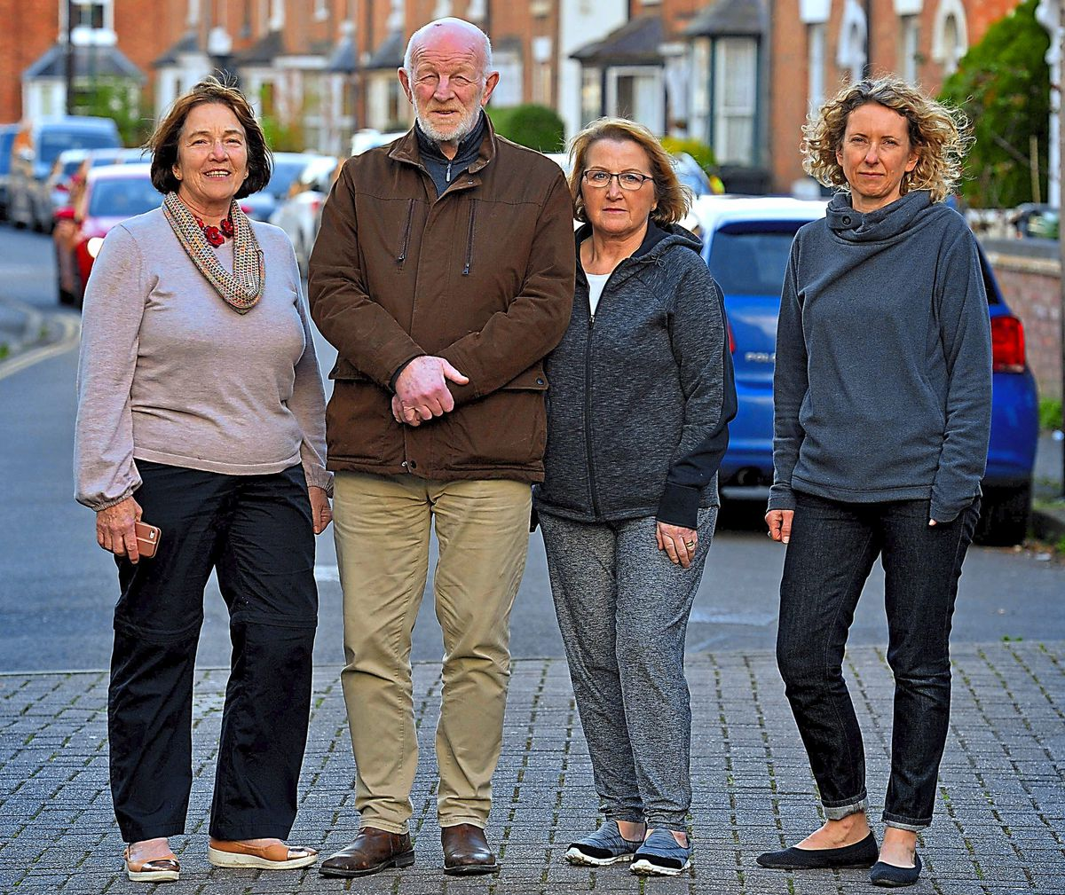 Alan Mosley with Lynn Gore, Anita Castree and Kate Garner in Castlefields
