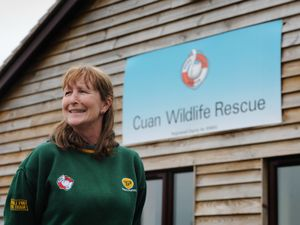 Cuan Wildlife Rescue manager Fran Hill at the centre in Much Wenlock