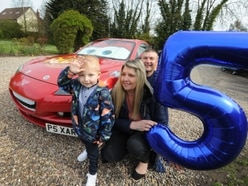 Brave Shropshire five-year-old celebrates birthday for the first time