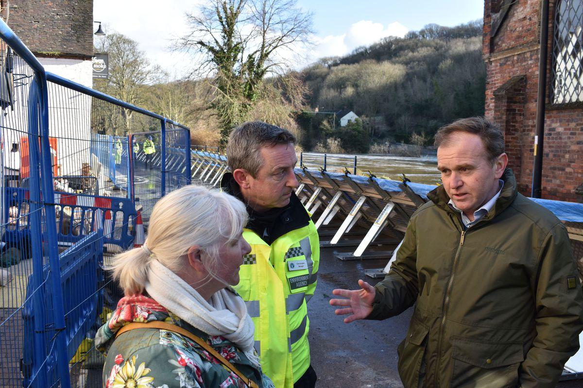 Environment Secretary George Eustice in Ironbridge