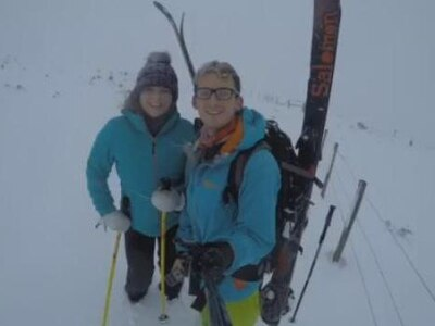 Par for the course as couple go skiing . . . at Shropshire golf club - with video