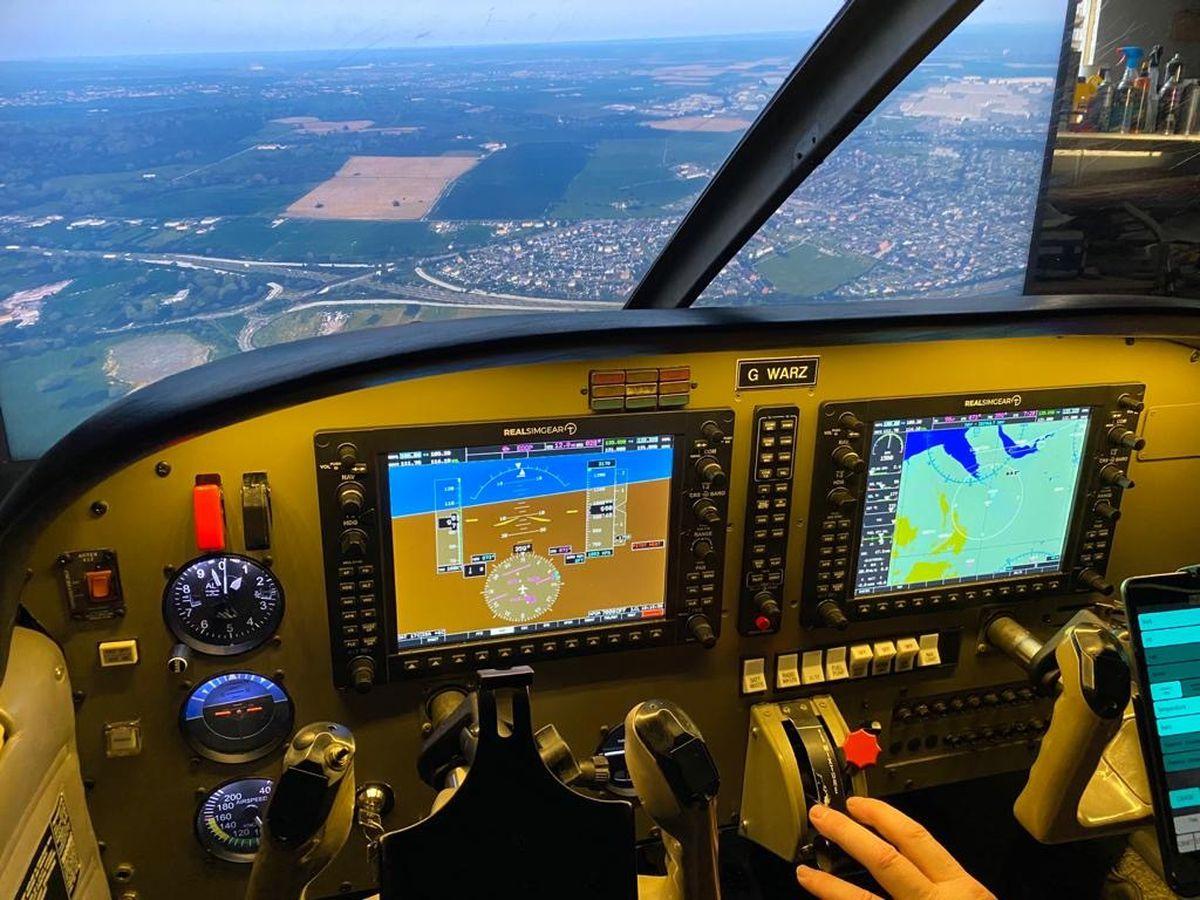 The flight simulator