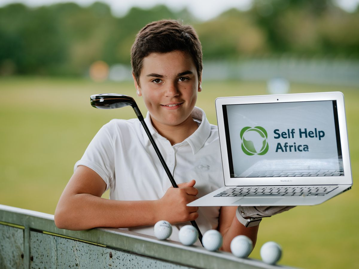 Izzy Negron-Jennings, 11, will be taking part in the virtual golf tournament