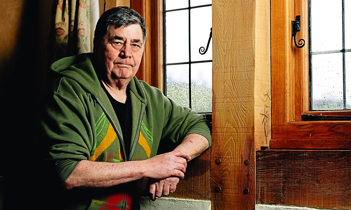 Judge Dredd and History of Violence creator, at his home in Aston Rogers