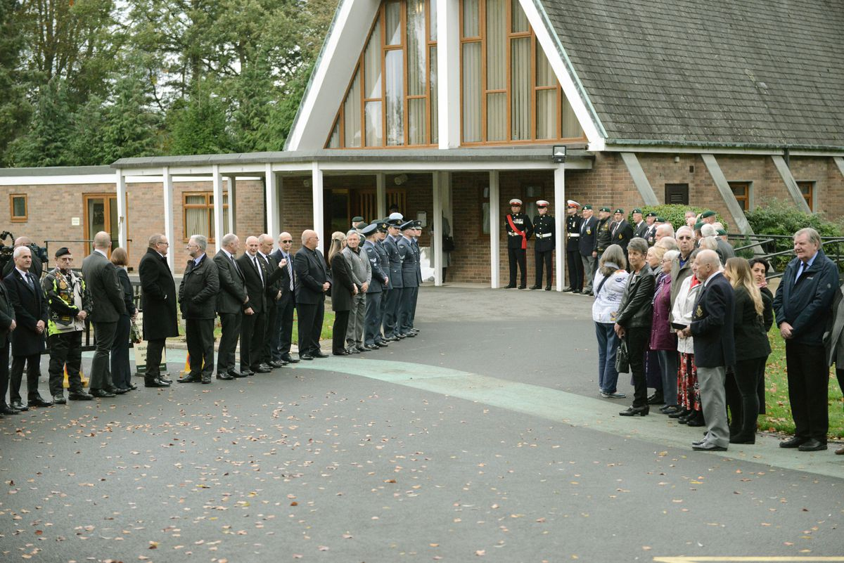 The funeral of David Kerr in Shrewsbury