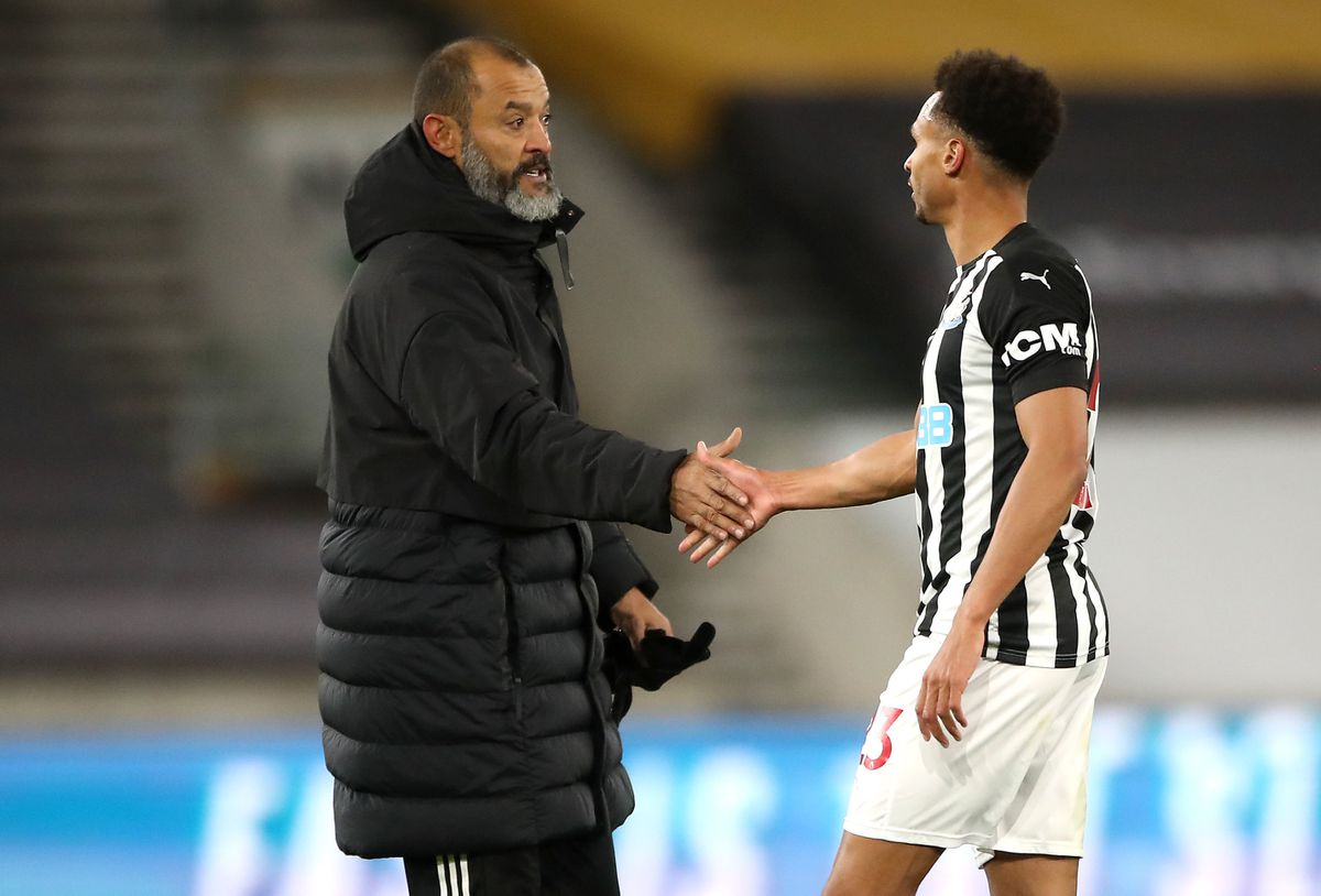 Nuno Espirito Santo, yet to see Wolves perform brilliantly this term, had to settle for a point after Jacob Murphy's last-gasp free-kick (PA)