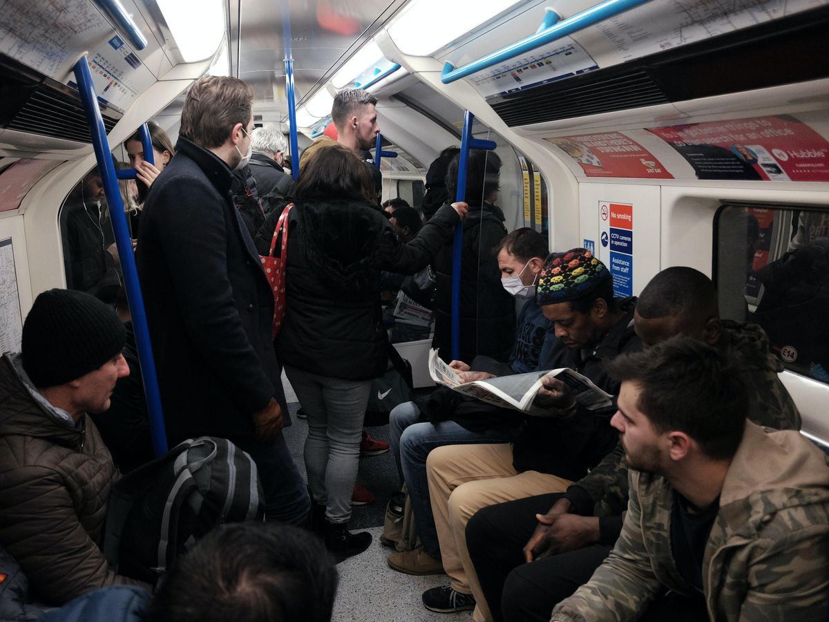 Train passengers could be infected by coronavirus if they sit within 2.5 metres of people carrying the disease on two-hour journeys, according to new research (Yui Mok/PA)
