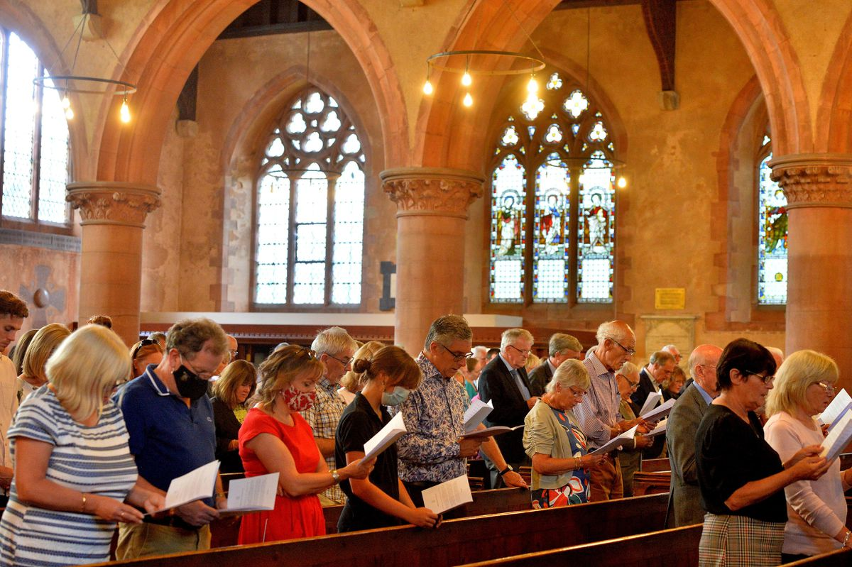 The remembrance service which took place at St Leonard's Church