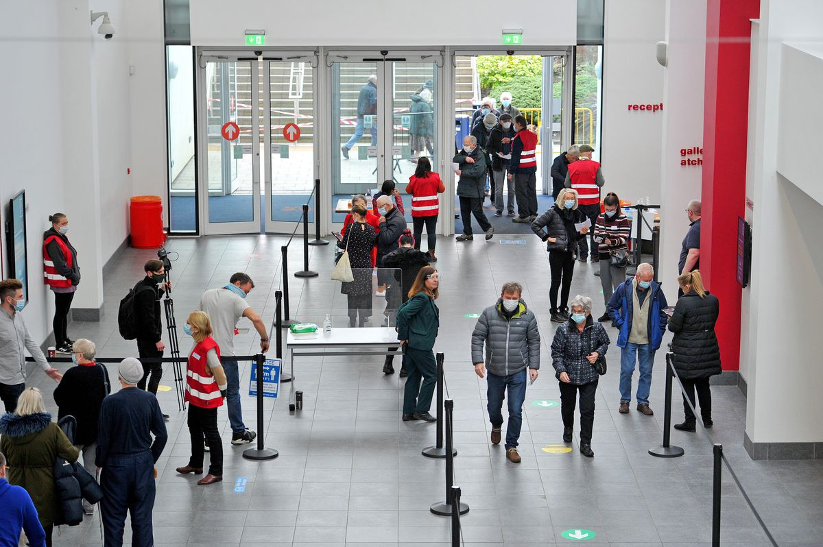 Telford International Centre has been transformed into a mass vaccination site