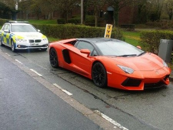 First it was six Mercedes, now Lamborghini supercar is stopped in police blitz on driving