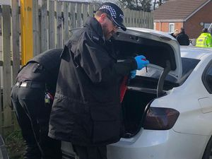 Police carried out the warrant