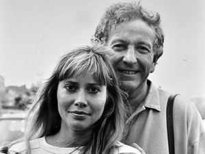 Stars Keith Barron and Maggie O'Neill filming for Take Me Home