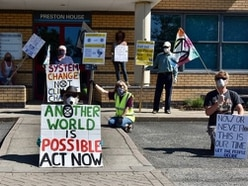 Extinction Rebellion activists stage protests outside Telford MPs' offices