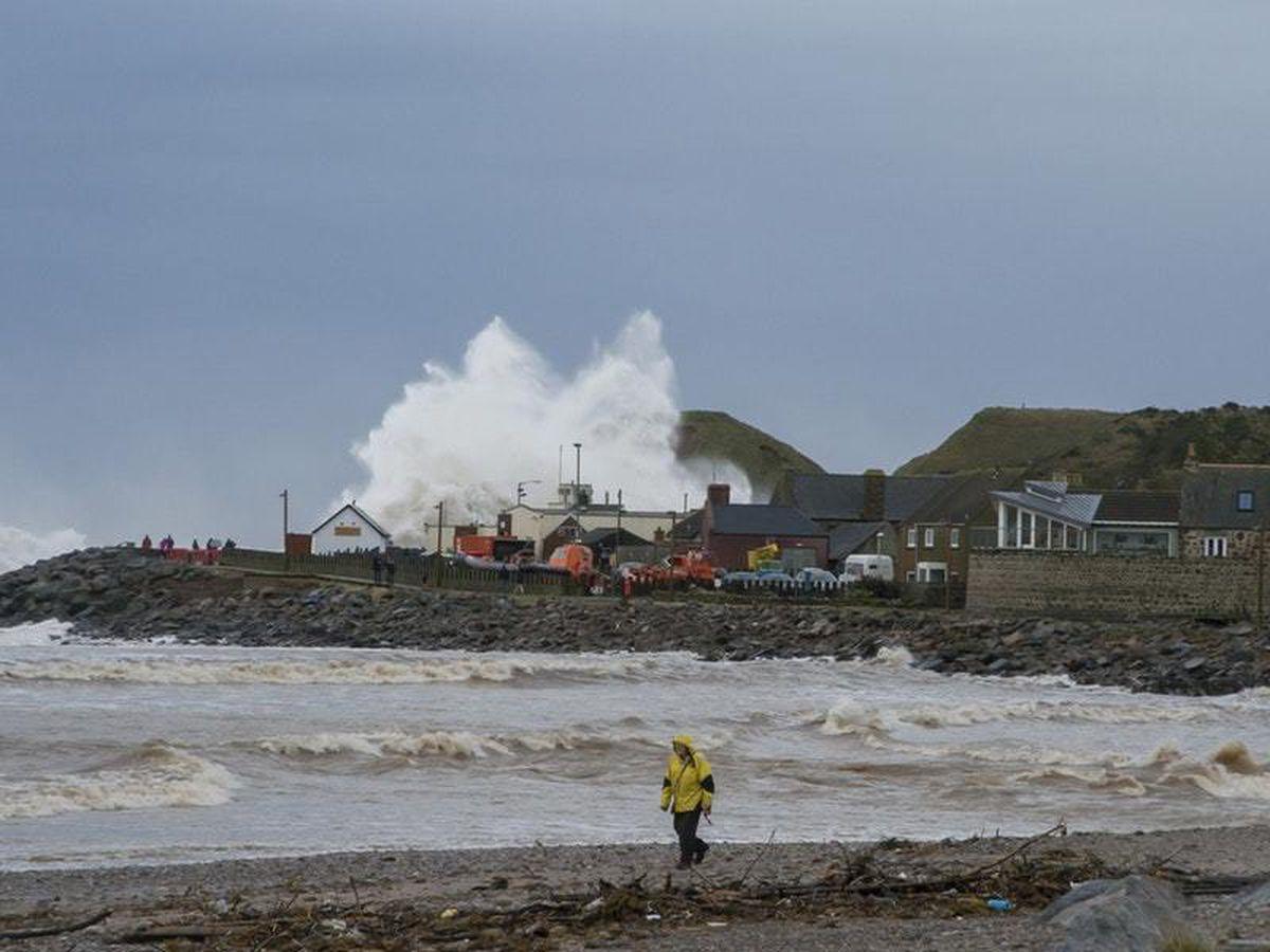 Coastal flooding in Kirkwall, Orkney