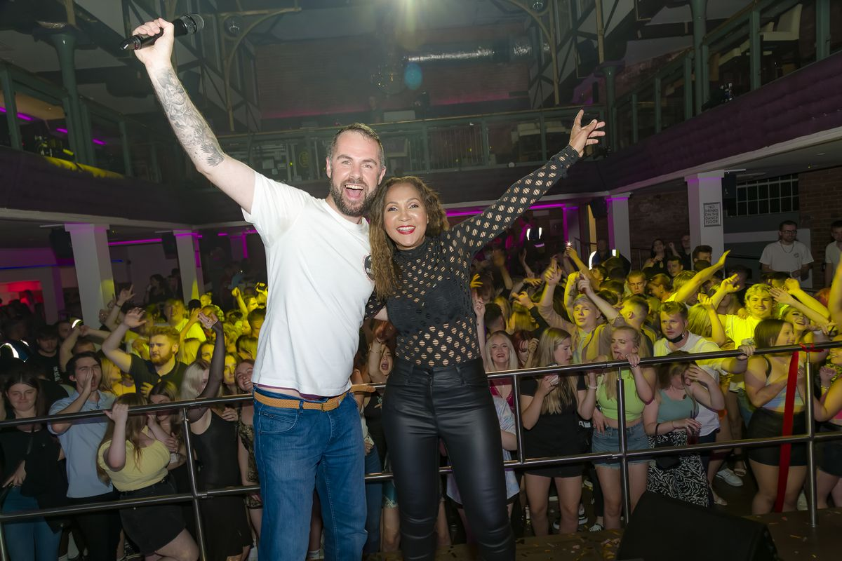 Resident DJ Paul Morrell and Rozalla. Pictures: Clive Padden