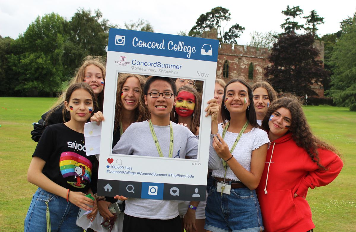 Students took part in food tasting at Concord College's International Day