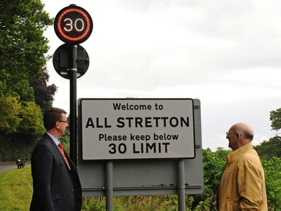 Flashing speed signs trigger to be lowered in Church Stretton