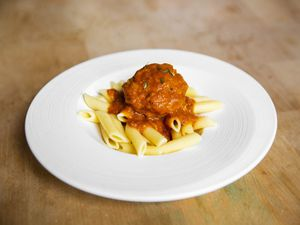 Meatballs with pasta
