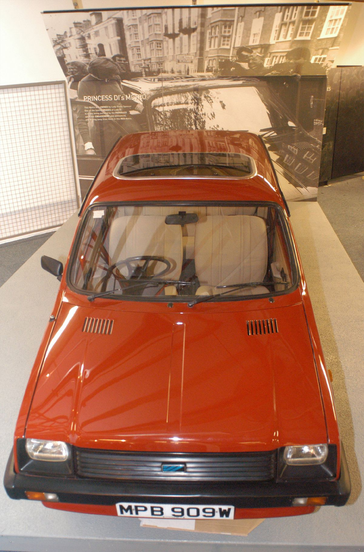 Princess Diana's Metro on display at Coventry Transport Museum