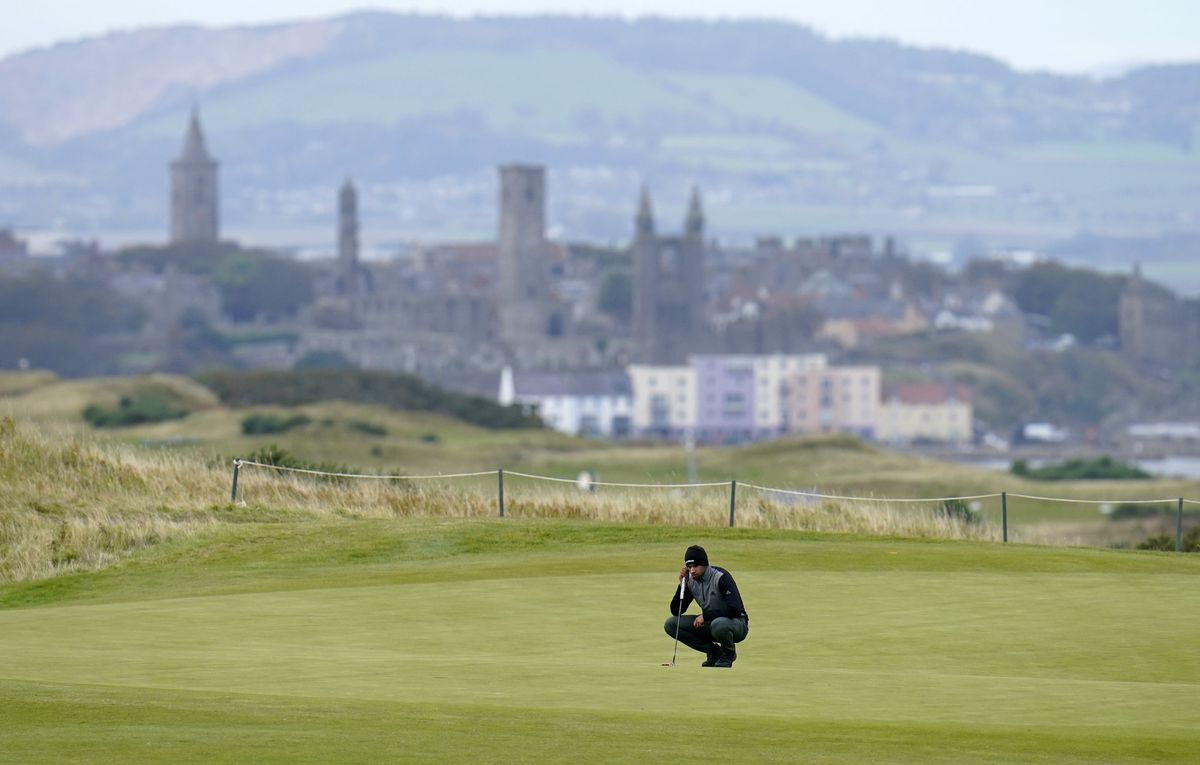 England's Aaron Rai on the 11th green during day two of The Scottish Championship