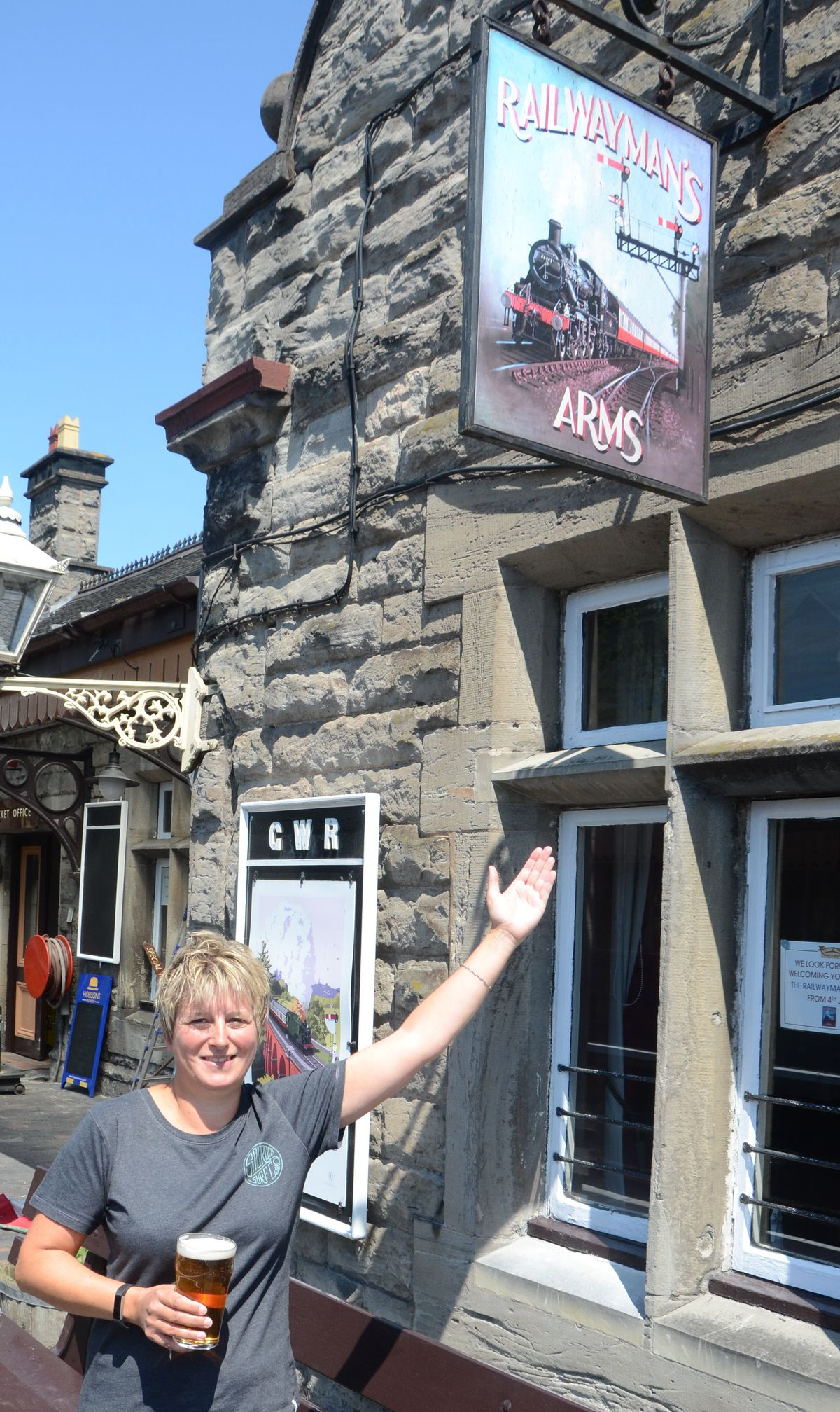 Andrea Smith, bar manager, ready to reopen The Railwayman's Arms in Bridgnorth