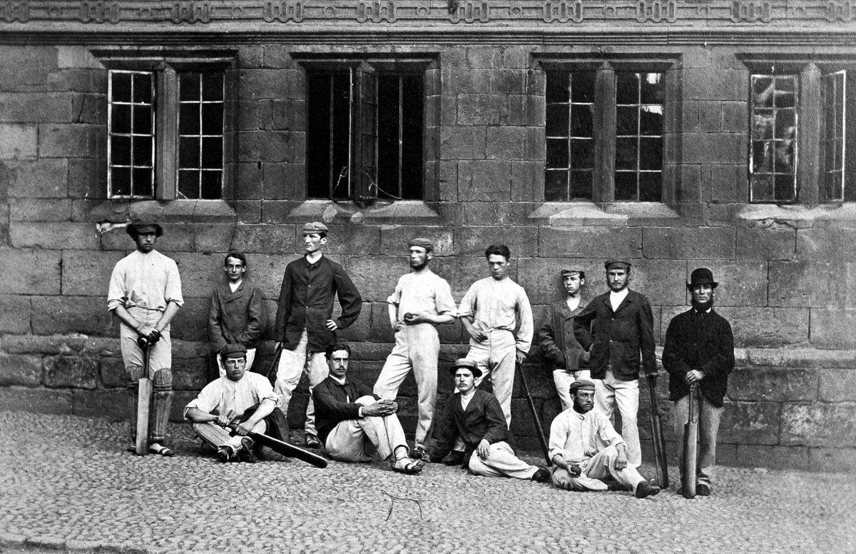 Spot the difference – Shrewsbury School's cricket XI in 1868.