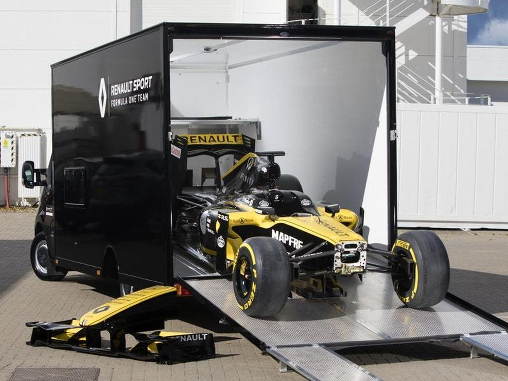 Renault Showcases Master Van Conversion As F1 Car