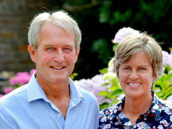 Owen Paterson pictured at home with his wife Rose, who died in June 2020