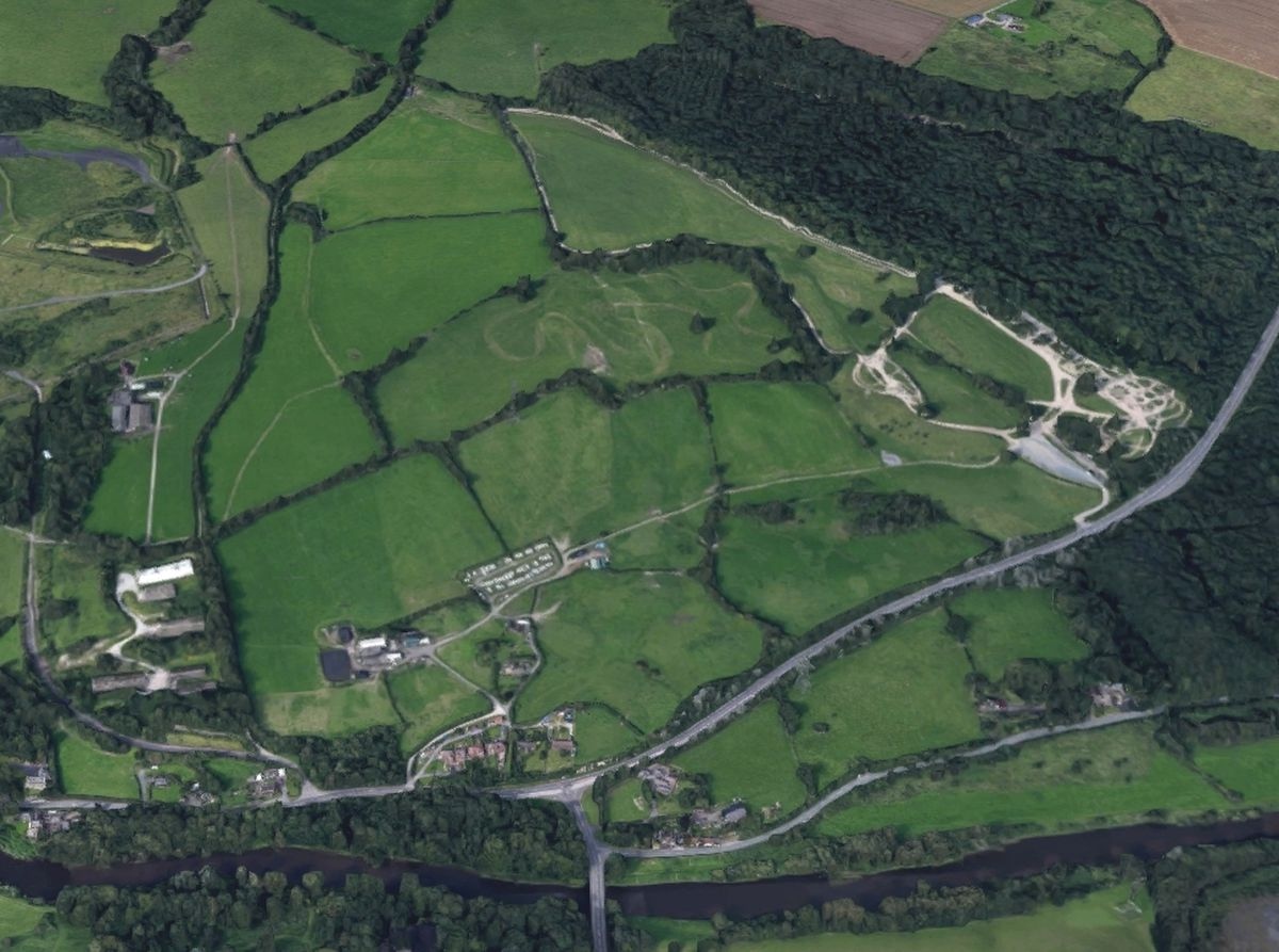 An aerial view of the site near the River Severn. Photo: Google