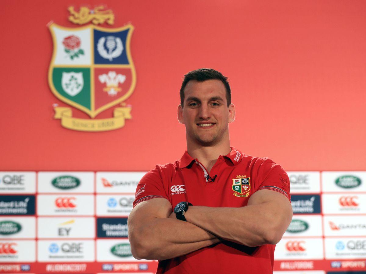 Sam Warburton during a Lions announcement