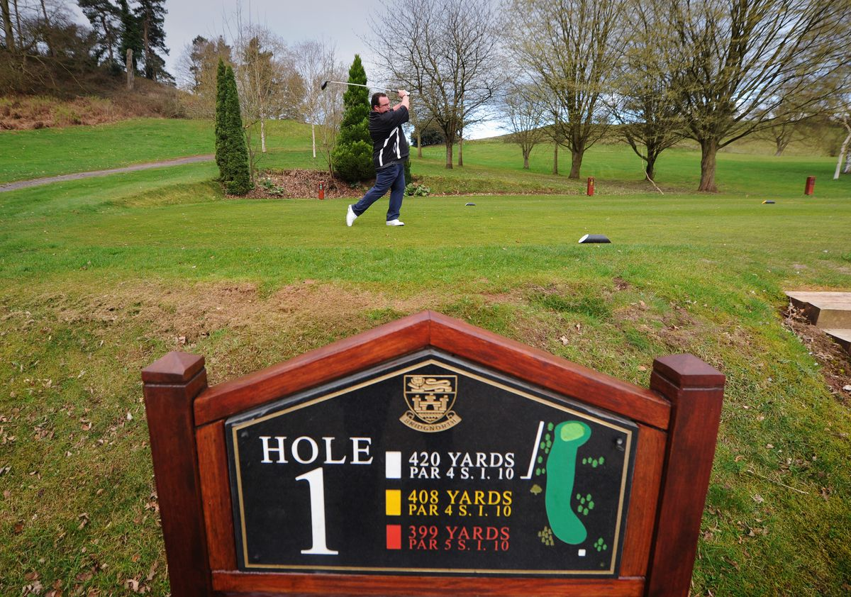 The first shot at Bridgnorth Golf Club after lockdown was from new men's club captain Jez Wilson