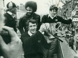 Richie Barker with the League Cup in Wolverhampton in March 1980.