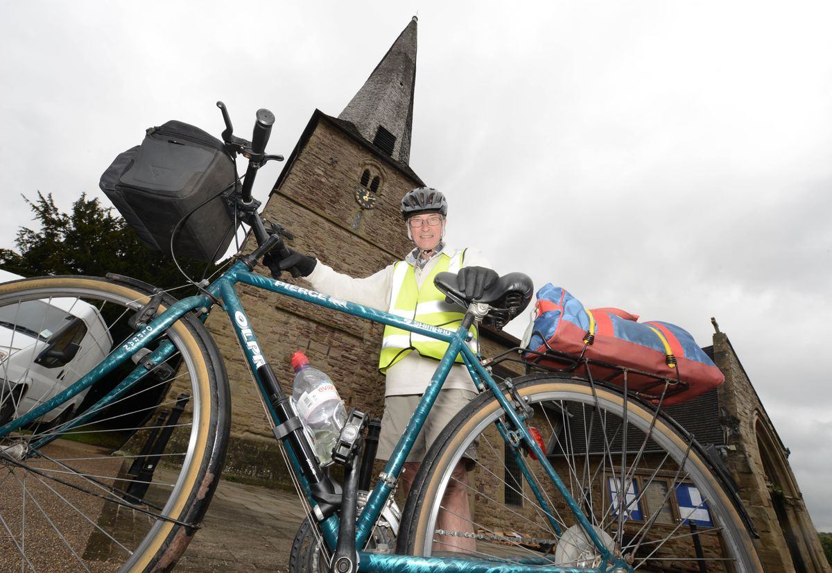 Chris Kippin, 75, is cycling from Cleobury Mortimer to Land's End to raise money for the Friends of St Mary's Church.