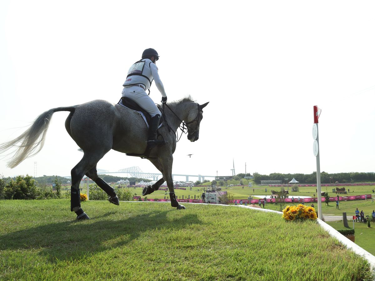 Oliver Townend in action at the Tokyo Olympics